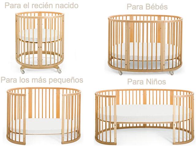Magnífico Muebles Cuna Blanca Redonda Embellecimiento - Muebles Para ...
