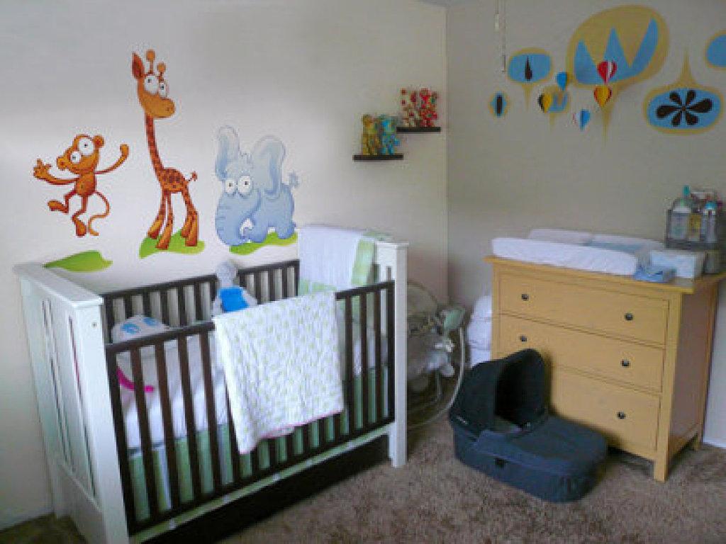23 paredes decoradas para beb s - Dibujos habitacion bebe ...