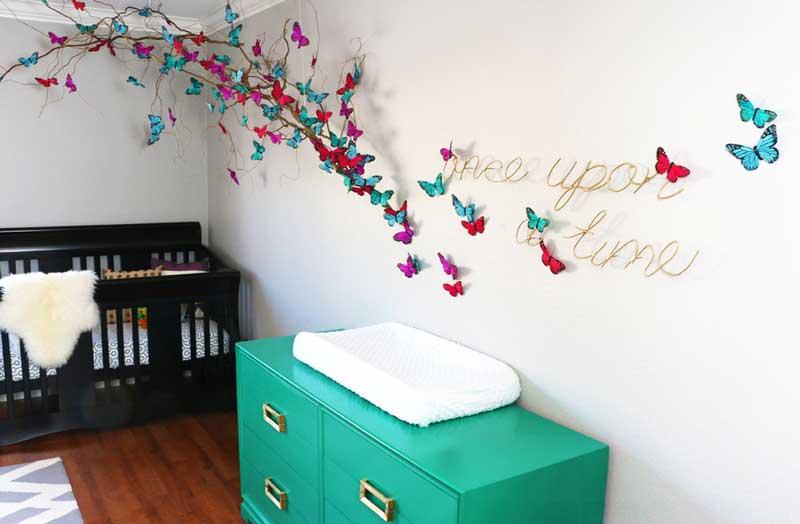 Decora su cuarto con mariposas for Como decorar tu pared