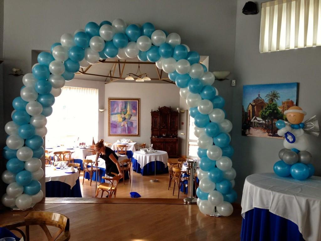 bautizo decoraci n con globos