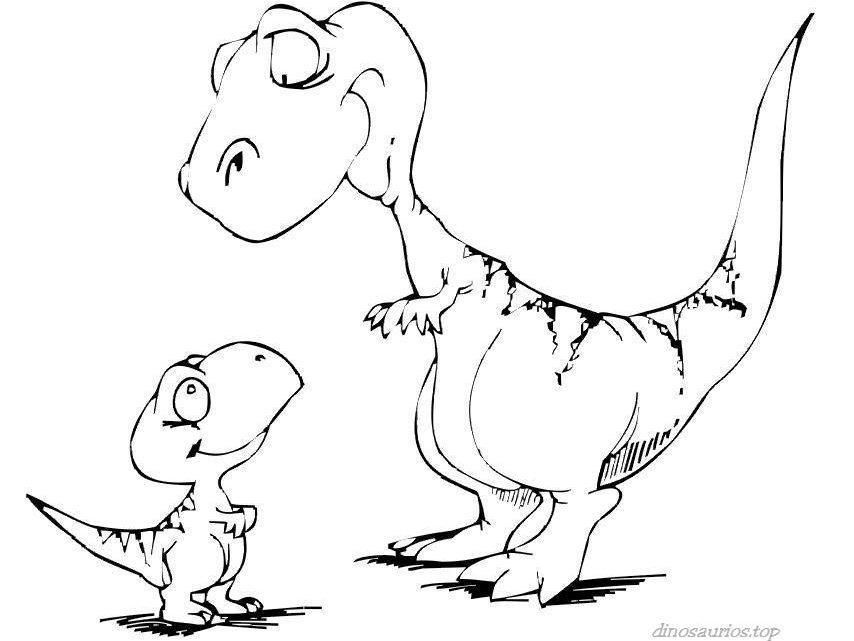 Excelente Lindo Bebé Dinosaurio Para Colorear Patrón - Dibujos Para ...