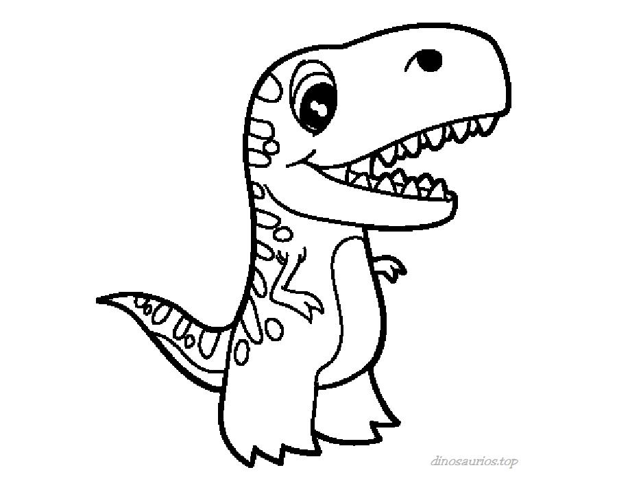 20 Dibujos del Rex para Colorear | Bebeazul.top