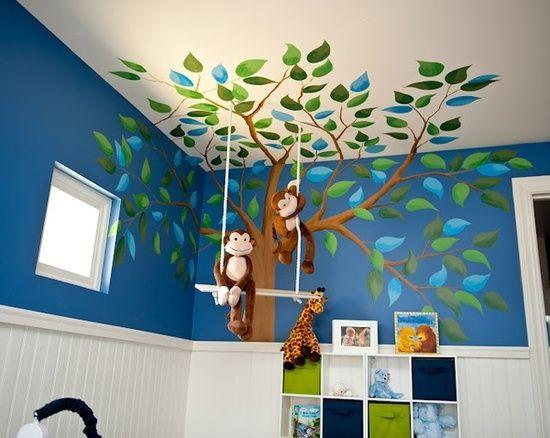 decoracion cuarto bebe-arboles-estanterias-bebeazul.top (5)