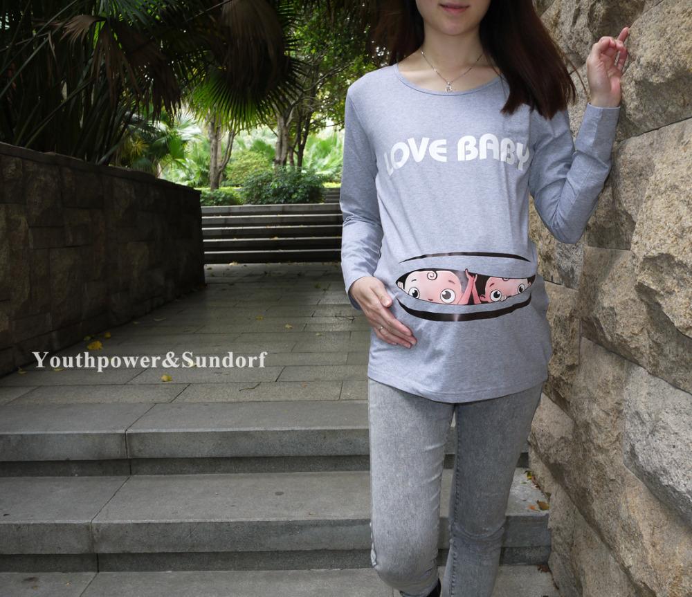 По-беременности-и-родам-топ-футболки-беременность-детские-близнецы-мальчик-печать-одежда-одежда-любовь-детские-серый