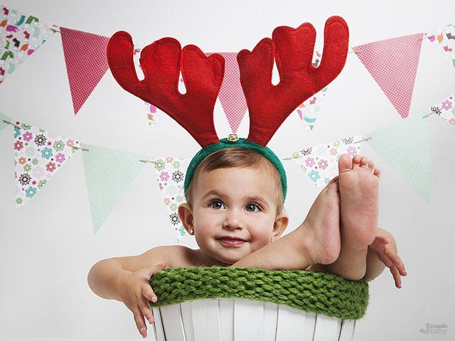 Felicitacion navidad foto bebe